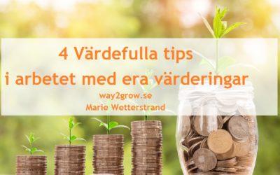 4 Värdefulla tips i arbetet med era värderingar