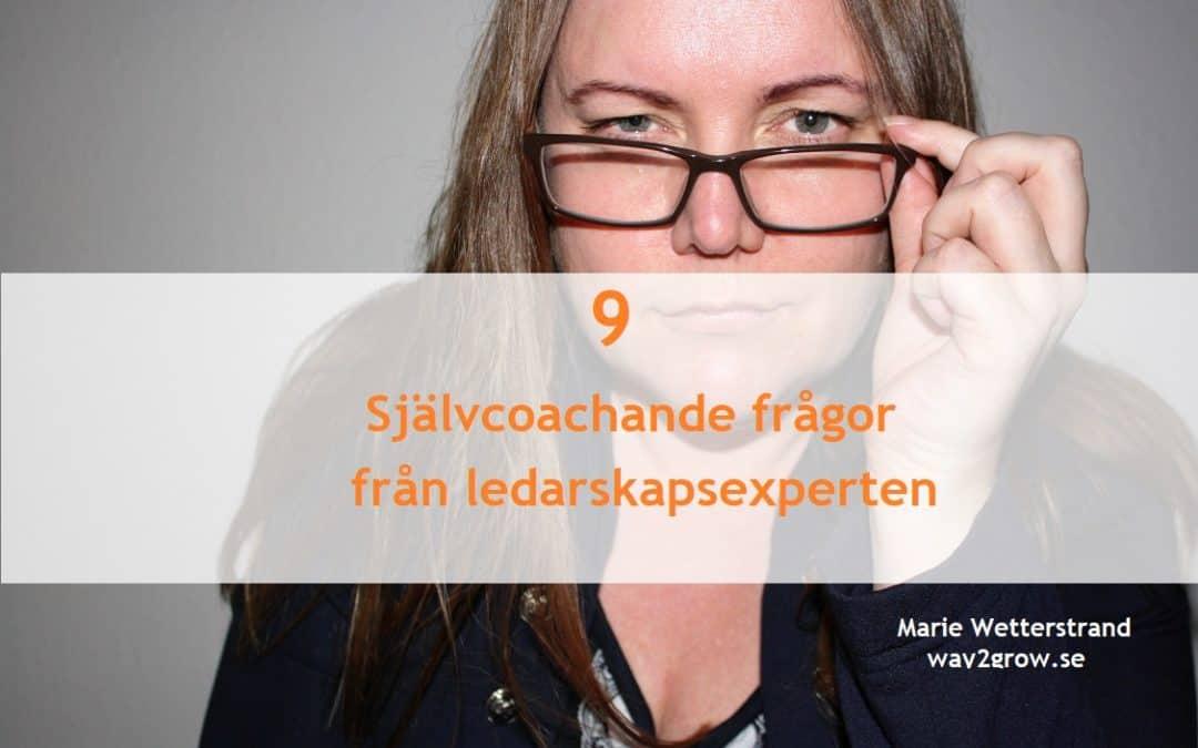 9 självcoachande frågor från Ledarskapsexperten