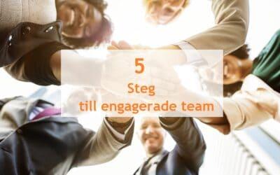 5 Steg till engagerade team